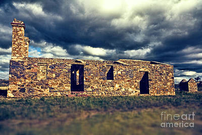Art Print featuring the photograph Flinders Ranges Ruins V2 by Douglas Barnard