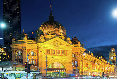 Photograph - Flinders Street Station by Andrew Michael