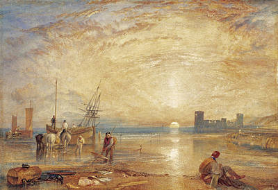 North Wales Drawing - Flint Castle. North Wales by Joseph Mallord William Turner