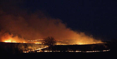 Photograph - Flint Hills On Fire by Thomas Bomstad