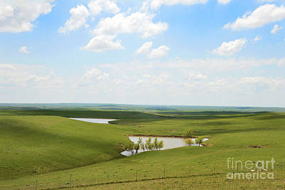 Photograph - Flint Hills Ponds by Catherine Sherman