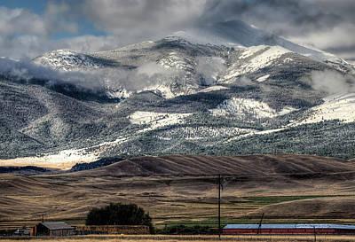 Photograph - Flint Ridge Range, Deer Lodge, Mt by Greg Sigrist