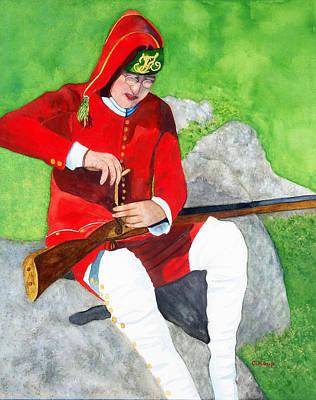 Painting - Flintlock Rifle Repair by Carolyn Koup