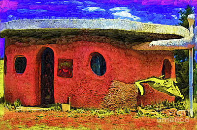 Digital Art - Flintstones Bedrock Grocery Store by Kirt Tisdale