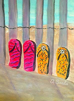 Painting - Flip Flop Day by Anne Sands