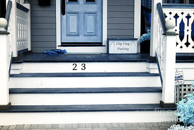 Front Steps Photograph - Flip Flop Parking by John Rizzuto