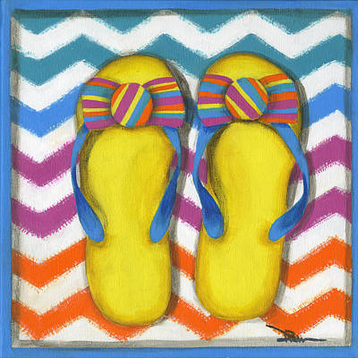 Painting - Flip Flops 2 by Debbie Brown