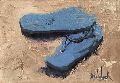 Painting - Flip Flops by Barbara Andolsek