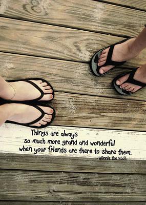 Flip Flops Quote Art Print by JAMART Photography