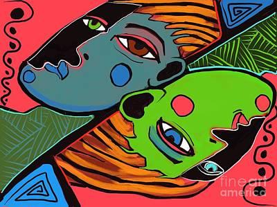 Digital Art - Flip Side by Hans Magden
