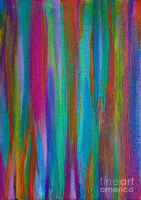 Painting - Flip Stripe by Expressionistart studio Priscilla Batzell