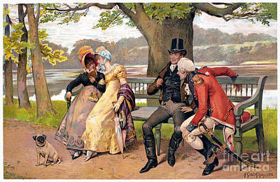 Flirtation, C1810 Print by Granger