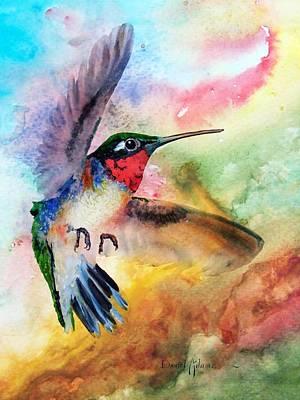 Da198 Flit The Hummingbird By Daniel Adams Art Print
