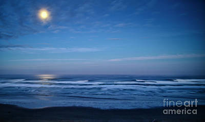 Photograph - Filtered Moonlight Reflecting On The Pacific Ocean by Bruce Block