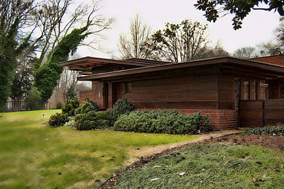 Photograph - Fllw Rosenbaum Usonian House - Side View by Paulette B Wright
