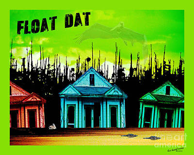 Digital Art - Float Dat Tee by Lizi Beard-Ward