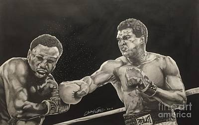 Heavyweight Drawing - Float Like A Butterfly And Sting Like A Bee by Chris Volpe