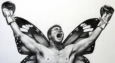 Float Like A Butterfly Sting Like A Bee Art Print by Atish Banerjee