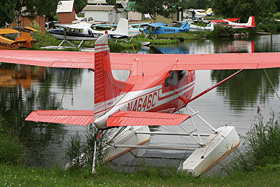 Photograph - Float Plane And Reflections by Fran West
