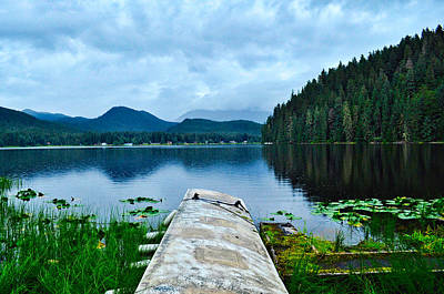 Photograph - Float Plane Dock - Auke Lake - Alaska by Cathy Mahnke