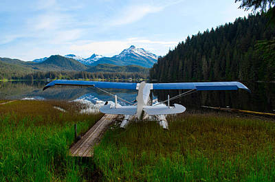 Photograph - Float Plane In Auke Lake by Cathy Mahnke