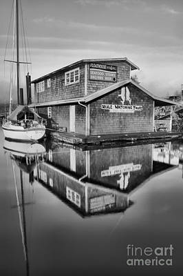 Photograph - Floathouse In Black And White by Adam Jewell