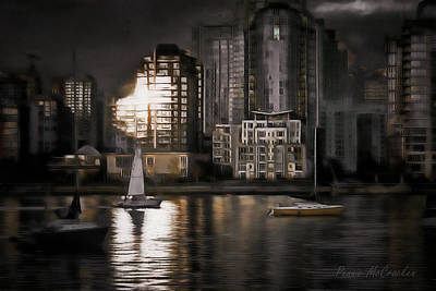 Digital Art - Floating At Night by Pennie McCracken