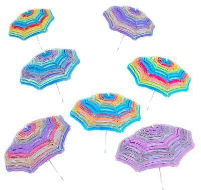 Painting - Floating Beach Umbrellas by Jan Matson