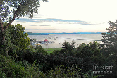 Photograph - Floating Boathouse Lake Champlain by Felipe Adan Lerma