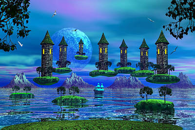 Photograph - Floating Castle by Mark Blauhoefer