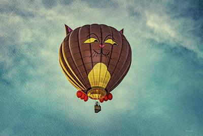 Photograph - Floating Cat - Hot Air Balloon by Bob Orsillo