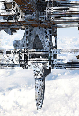 Digital Art - Floating City Weather Station by Hal Tenny