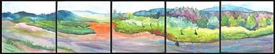 River.etc Painting - Floating Down The Chama River by Jane E Chandler