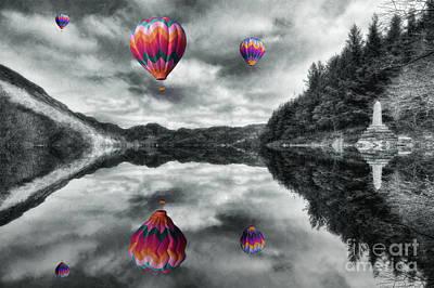 Park Scene Digital Art - Floating Dreams by Ian Mitchell