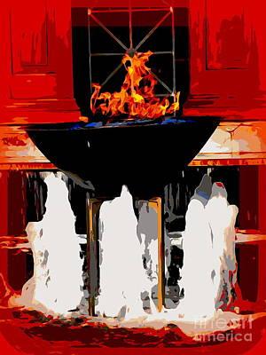 Digital Art - Floating Fire by Ed Weidman