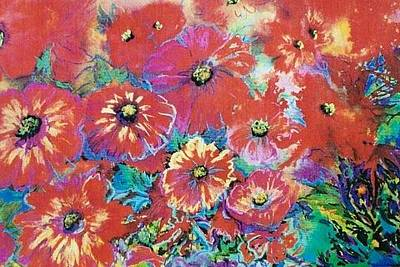 Painting - Floating Floral by Caroline Patrick