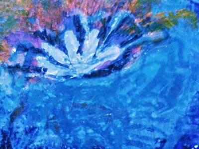 Floating Flower Art Print by Anne-Elizabeth Whiteway
