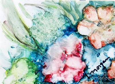 Painting - Floating Flowers 2 by Laurie Morgan