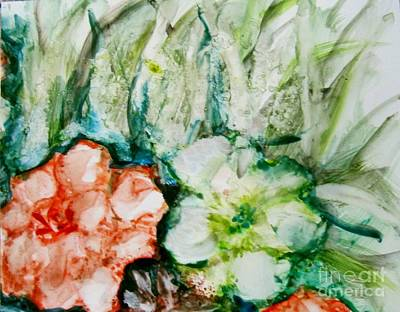 Painting - Floating Flowers 3 by Laurie Morgan