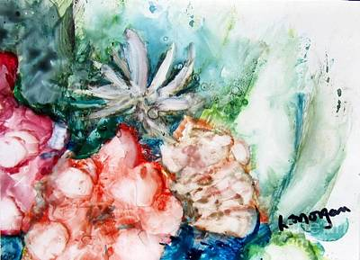 Painting - Floating Flowers by Laurie Morgan