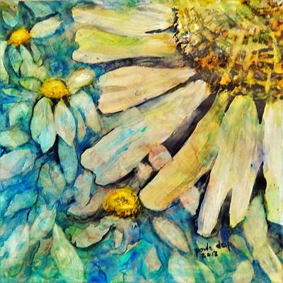Painting - Floating Flowers by Paula Day