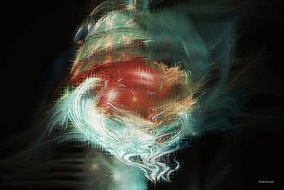 Free Energy Digital Art - Floating Free by Linda Sannuti