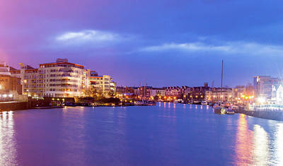Photograph - Bristol Floating Harbour By Night by Jacek Wojnarowski