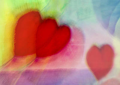 Photograph - Floating Hearts by Susan Stone