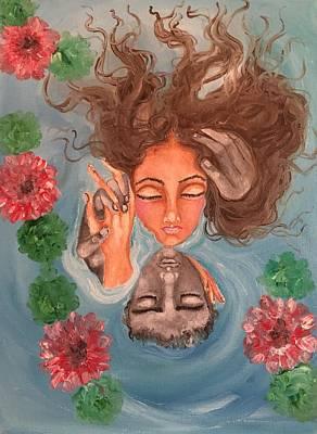 Floating In Love Art Print