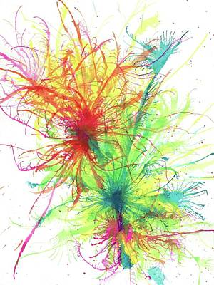 Floating In The Electric Sea #334 Original by Rainbow Artist Orlando L aka Kevin Orlando Lau