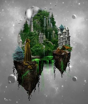 Digital Art - Floating Kingdom by Ali Oppy