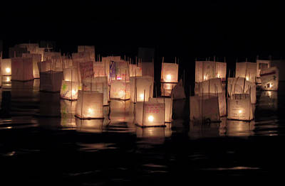 Photograph - Floating Lanterns by Pamela Walton