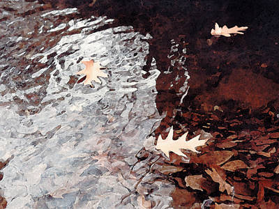 Painting - Floating Leaves by Paul Sachtleben
