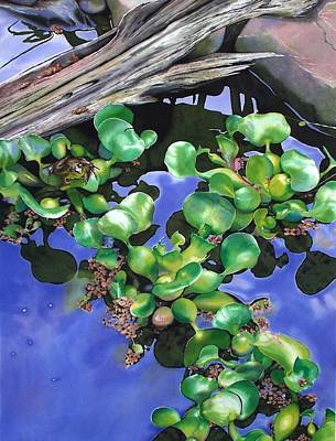 Floating Lilacs Art Print by Denny Bond